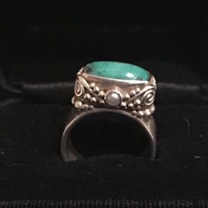 Sajen Sterling Silver and Turquoise Ring
